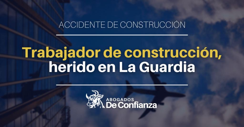 Trabajador de construcción, herido en La Guardia